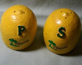 Vintage Florida Lemon Souvenir Salt and Pepper Shakers