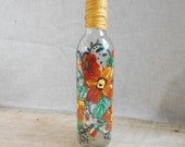 Orange Flower Olive Oil Bottle