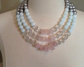 Petal Pink & White