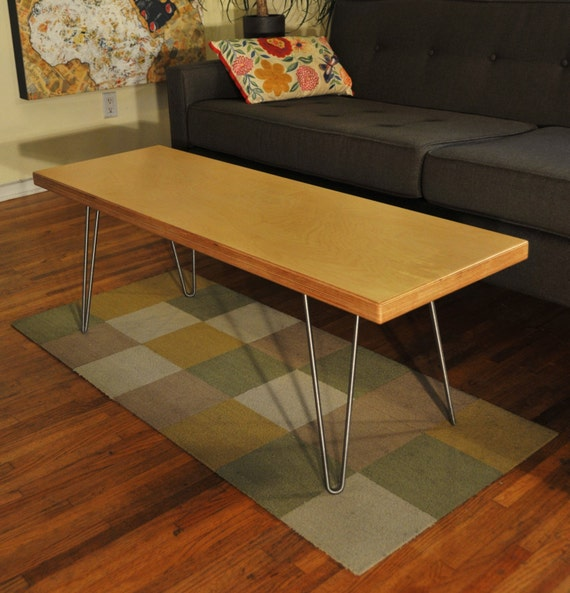 Handmade Birch Plywood Coffee Table Bench By Workshophoney