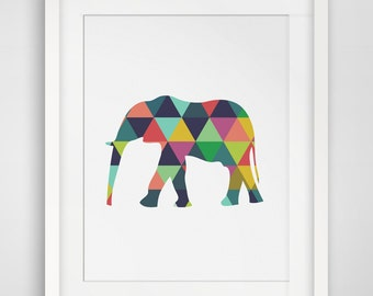 Elephant Print, Elephant Art, Elephant Wall Art, Elephant, Toddler Art, Toddler Decor, Preschool Decor, Preschool Printables