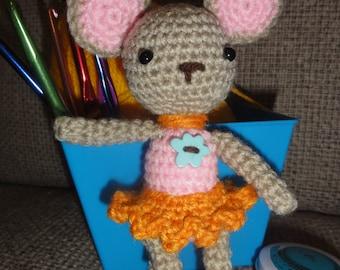 Crochet Mouse, Crochet Ballerina, Ballerina Toy, Plush Mouse, Girl Toy, Mouse Doll, Crochet, Toy Mouse, Ballerina