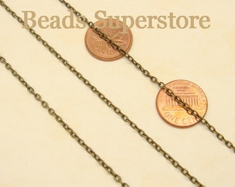 SALE 3 mm x 2 mm Antique Bronze Cross Chain - Nickel Free and Lead Free - 3 meters (about 10 feet)