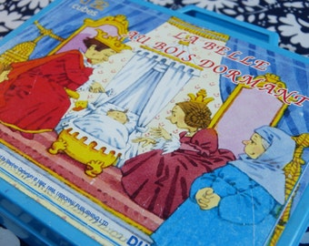 1992 DUJARDIN Perrault fairytale cubes puzzle game Sleeping Beauty illustrations by Stephen Cartwright - French 90s vintage