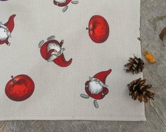 Christmas Towel Christmas Gnome Christmas Gift Scandinavian Design Tea Towel Kitchen Towel Nordic Christmas Ornament Tomte Kitchen Towel