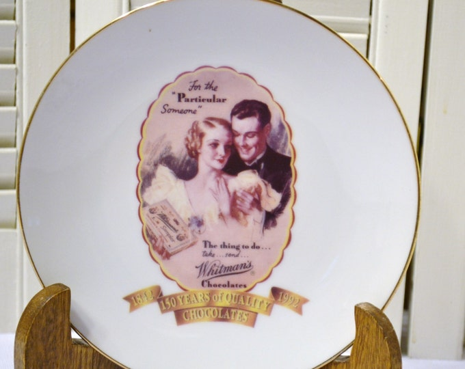 Vintage Whitmans Chocolates Collector Plate 150 Anniversary PanchosPorch