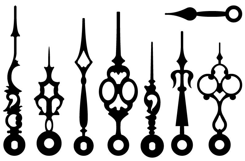 Vintage Victorian Steampunk Clock Hands Vectors Clip Art
