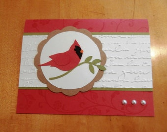 Stampin Up Handmade Card Cardinal Any Occasion Christmas