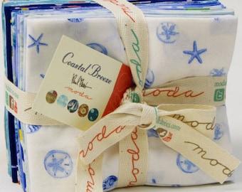 Coastal Breeze Fat Quarter Bundle - 14 Pieces Cotton Quilt Fabric - by Paul Brent for Moda (W861)