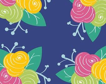 Half Yard Gleeful - Preppy Fleurs - Premium Cotton Quilt Fabric - by Sew Caroline for Art Gallery Fabrics - AGF Limited Edition (W1965)