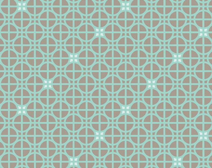One Yard Drift - Latticework in Turquoise - Cotton Quilt Fabric - from Angela Walters for Art Gallery Fabrics (W1700)