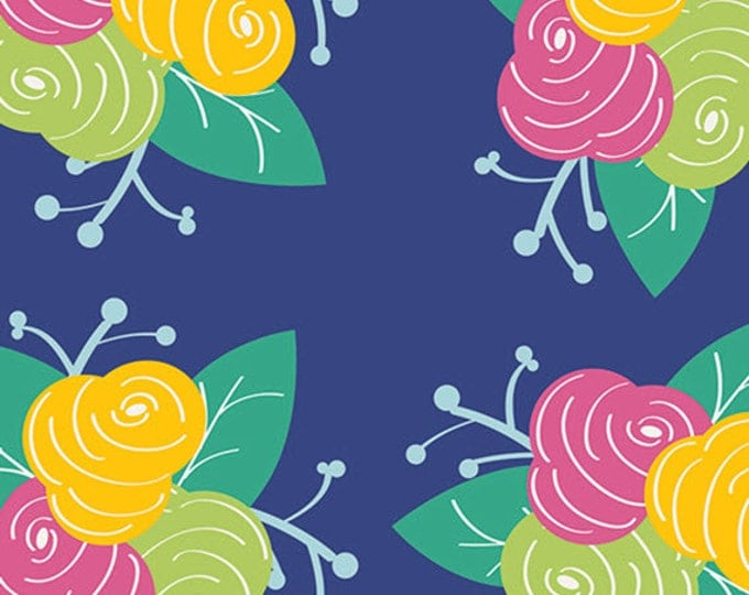 Fat Quarter Gleeful - Preppy Fleurs - Premium Cotton Quilt Fabric - by Sew Caroline for Art Gallery Fabrics - AGF Limited Edition (W1965)