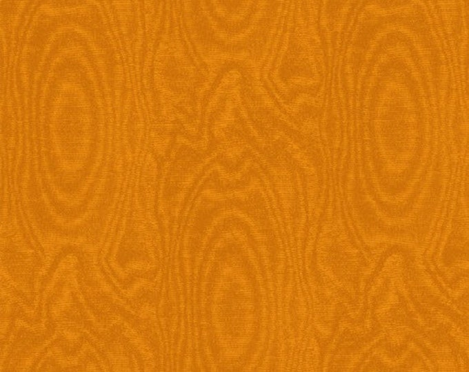 One Yard That's A Moiré - Moire in Burnt Orange - Cotton Quilt Fabric - by Whistler Studios for Windham Fabrics (W2147)
