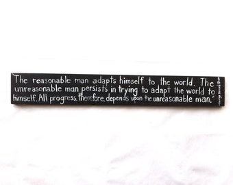George Bernard Shaw Handpainted Quote Sign