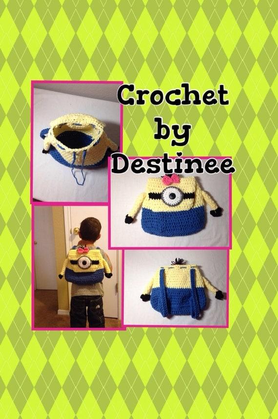 Crochet Minion Backpack Minion
