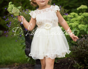 The original Charlotte - flower girl dress ivory, lace toddler dress made for girls ages 1t, 2t, 3t, 4t, 5t, 6, 7, 8, 9/10,11/12,13/14