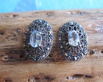 Topaz and Sterling Earrings
