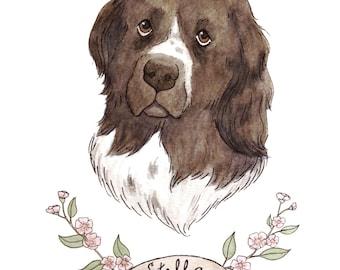 Custom Pet Portrait-- 8x10 original watercolor