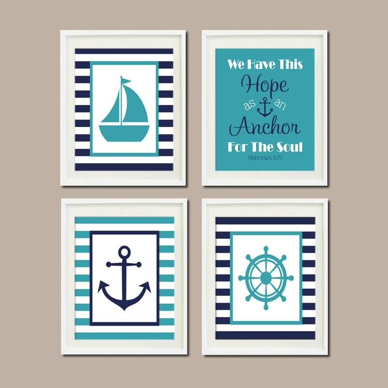 Nautical decor nautical nursery nautical baby by for Bathroom decor etsy