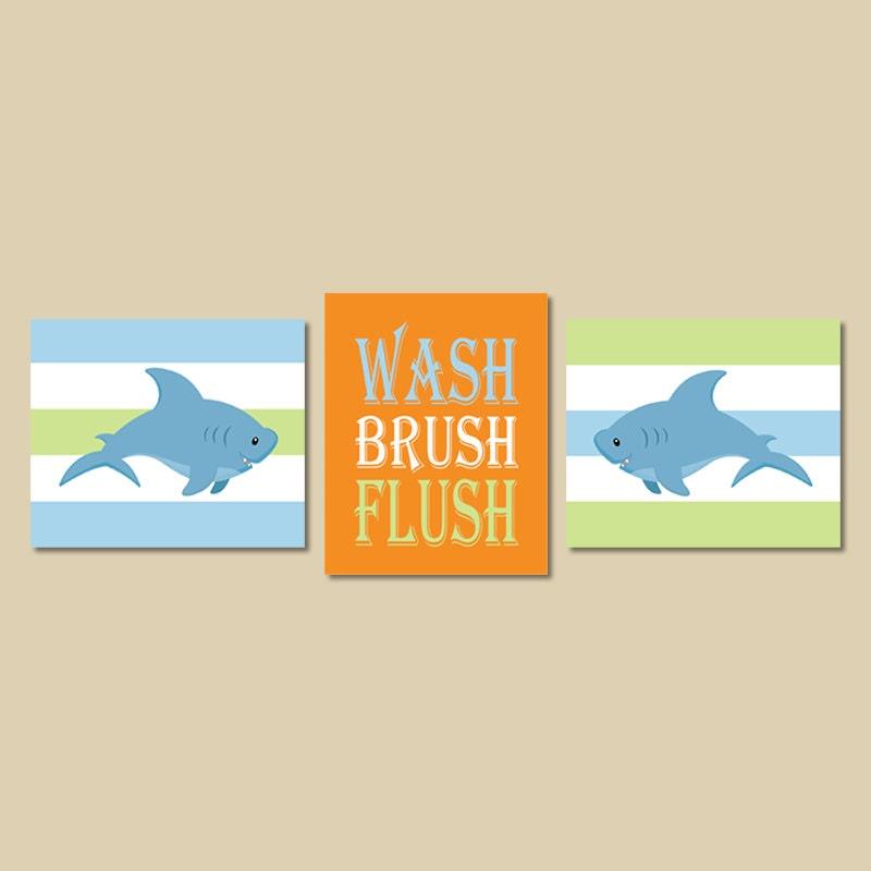Shark decor shark bathroom decor wash brush by lovelyfacedesigns