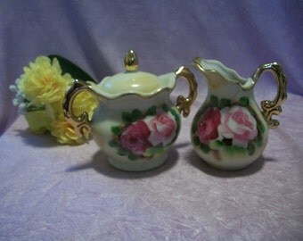 Smith Western Sugar Bowl and Creamer Set
