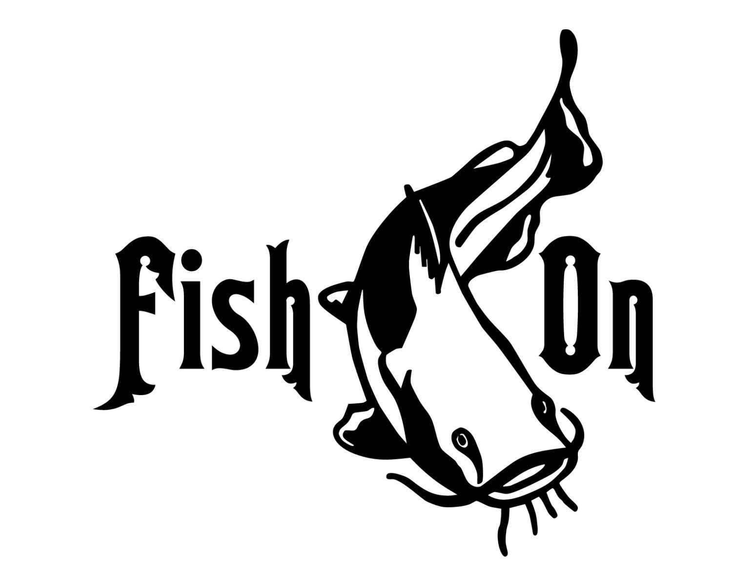 Catfish fishing decal fish on sticker outdoorsman catfish for Fishing stickers and decals