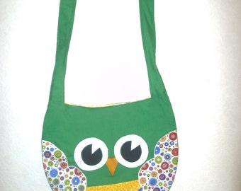 Owl Shoulder Bag - Green