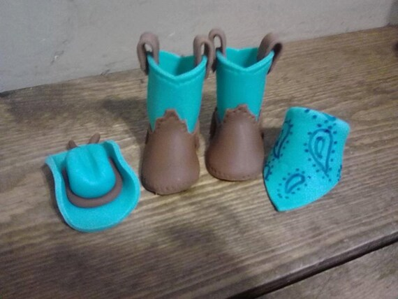 Baby Cowboy Boots Cake Topper