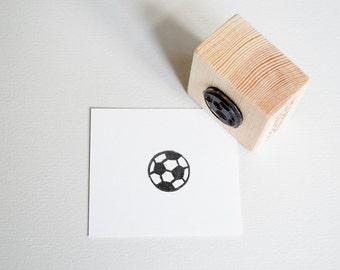 Handmade stamp Football