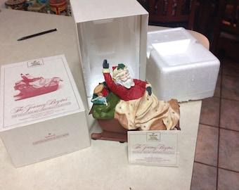 1987 Santa Christmas vintage Hallmark Golden Crown figurine The Journey Begins in box
