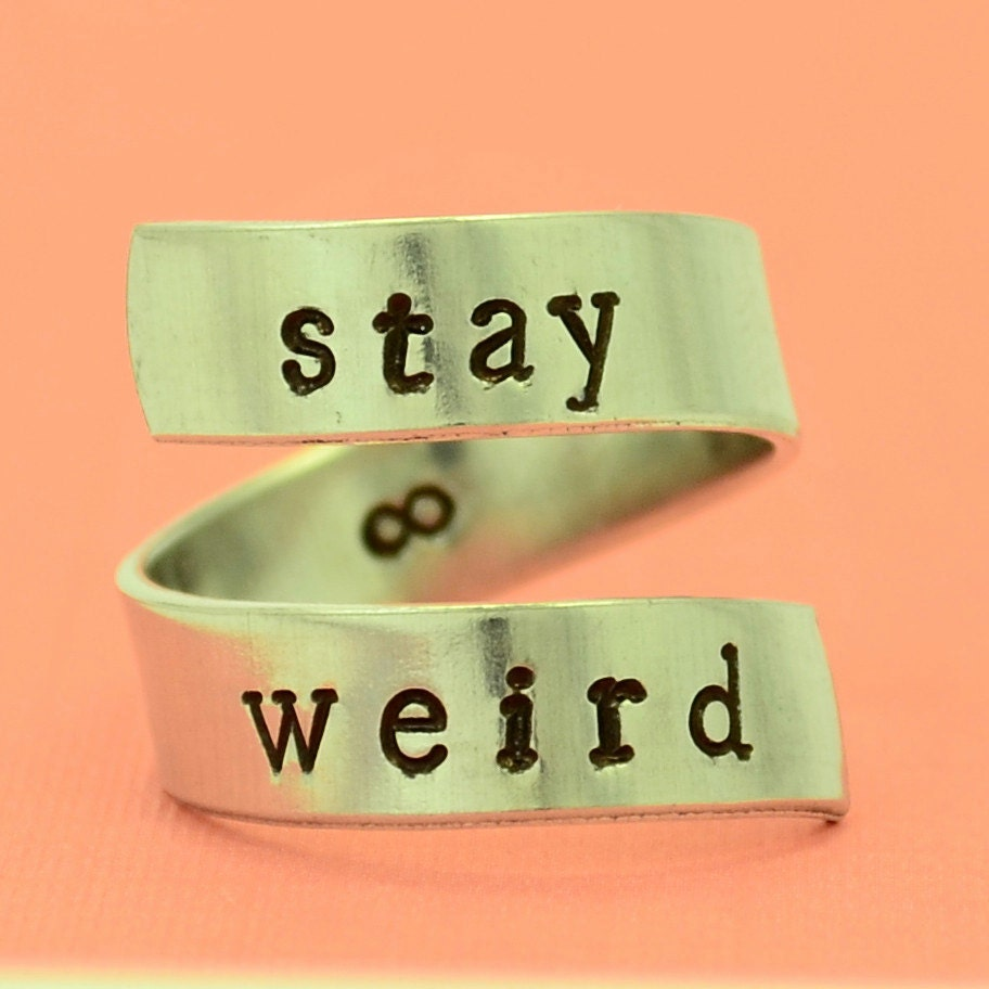 Stay Weird Ring Wrap Around Ring Adjustable By Thevillagegifts