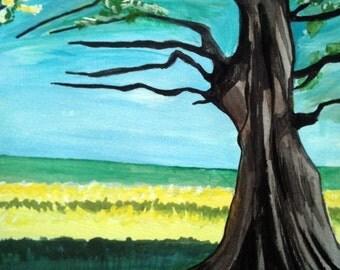 Blossom Tree - Gouache