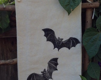 Bats Flour Sack Tea Towel