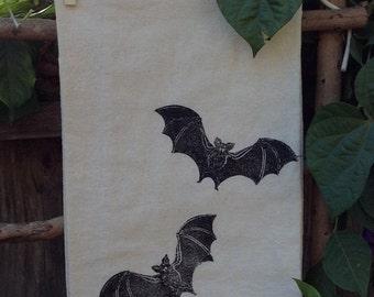 Bats Flour Sack Tea Towel