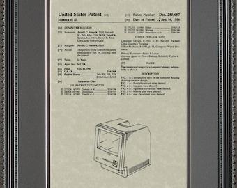 Macintosh Apple Computer Patent Artwork Steve Jobs Software Programmer Mac Gift M5687