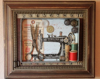Assemblage Art - The Vintage Seamstress