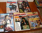 Collection of Five 90s Music Magazines Containing Lou Gramm Articles (Roughly The Long Hard Look  Release Period)