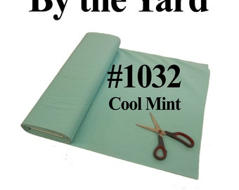 """45"""" Mint Broadcloth Fabric - By The Yard"""