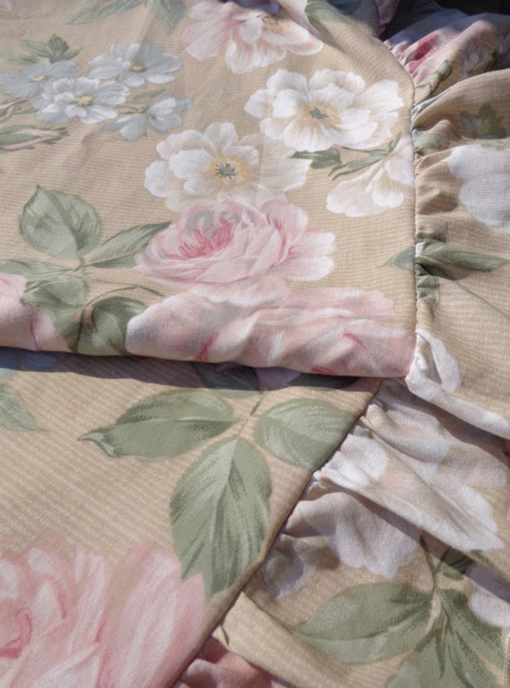 Shabby Chic King Size Pillow Shams : Pair of Shabby Cottage Chic Sham Pillow Covers KING Size