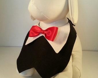 Dog Tuxedo Vest. Male dog party vest, special occasion wear, dog wedding vest, dog wedding tuxedo.