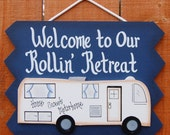 Welcome Camping Sign - RV Sign