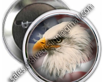 Eagle Flag  2.25 inch  button