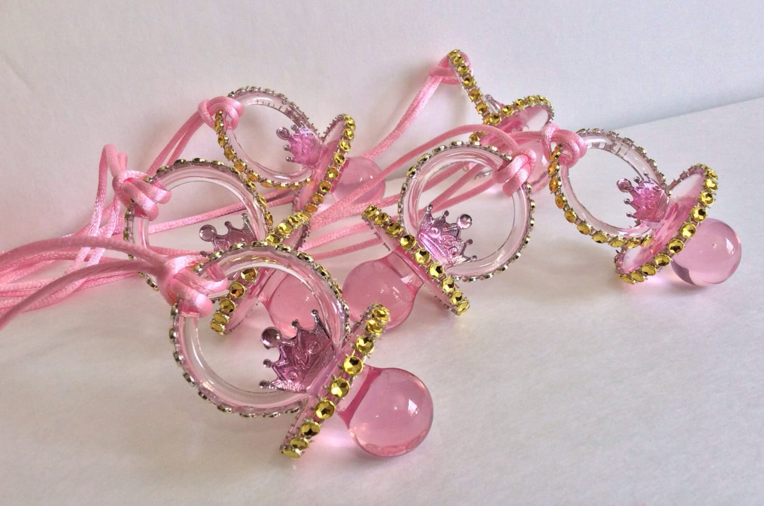 little princess pacifiers baby shower favors by marshmallowfavors