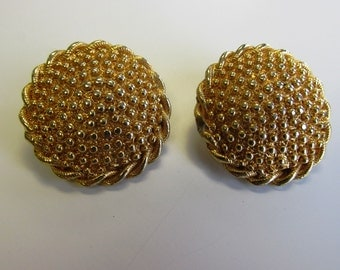 Vintage Antique Gold Re-Purposed Clip-On Earring to Post
