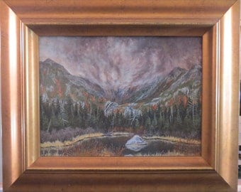 Passing Storm Tuckerman's Ravine, White Mountains New Hampshire Original Landscape Painting in Oil