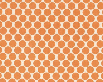 1 Yard AMY BUTLER Full MOON Dots Fabric in Tangerine, Lotus Collection