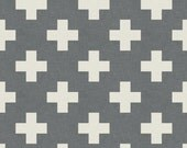 Made To Order - Fitted Cot / Crib sheet Cross, Plus, Addition, White and Grey, Gray