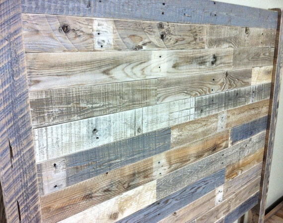 Lit King Bois De Grange : Reclaimed Wood Headboard Queen Bed