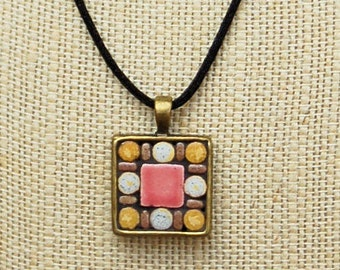 Mosaic tile pendant / necklace