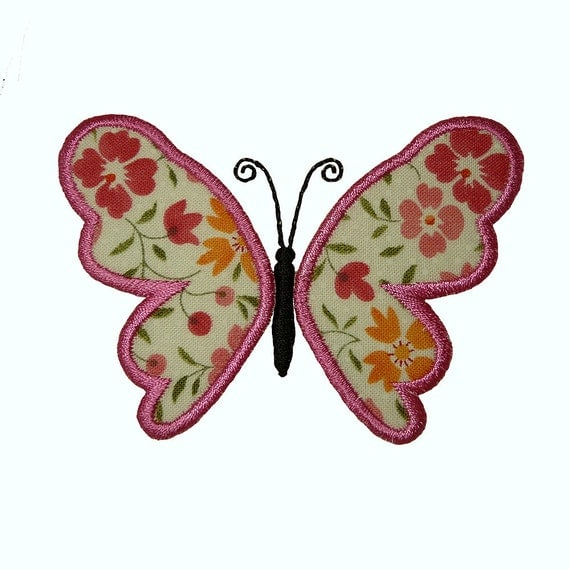 Fantasy Butterfly Applique Machine Embroidery Design Pattern